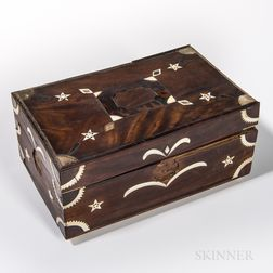 Sailor-made Inlaid Mahogany Box