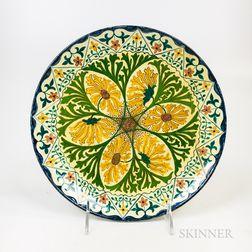 Minton Aesthetic Movement Porcelain Plate