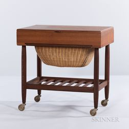 Ejvind A. Johansson for FDB Mobler Sewing Cart