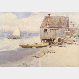 John B. Foster (Boston, early 20th Century)  Seaside Scene.