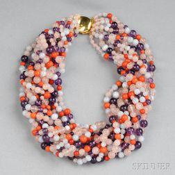 Gemstone Bead Torsade Necklace, Elsa Peretti, Tiffany & Co.