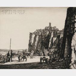 Sir Henry George Rushbury (British, 1889-1968)      Lot of Two Italian Views: Porta Maggiore, Orvieto