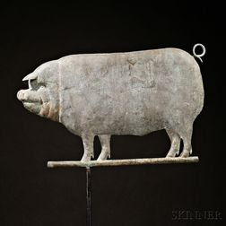Molded Copper Pig Weather Vane