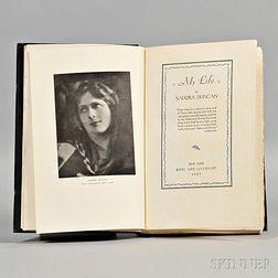 Duncan, Isadora (1877-1927) My Life  , Presentation Edition.