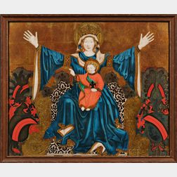 European School, 20th Century      Madonna and Child Enthroned
