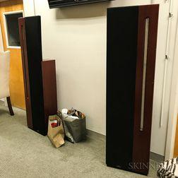 "Pair of Apogee Acoustics ""Centaur Major"" Mahogany-cased Speakers"