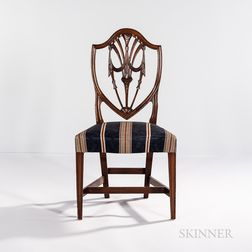Federal Carved Mahogany Shield-back Chair