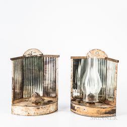 Pair of Reflector Fluid Sconces
