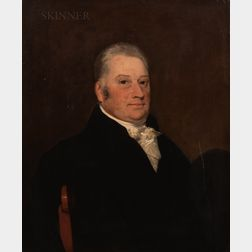 British School, 19th Century      Portrait of a Gray-haired Gentleman