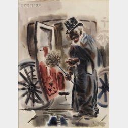 George Ehrenfried Grosz (German/American, 1893-1959)      The Black Cabby