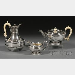 Three Piece George III Silver Tea Set