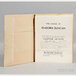 Lecomte, Valentine (b. 1872) The Dance of Isadora Duncan  , Signed Copy Presented by the Publisher.