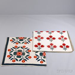 """""""Whig Rose"""" Pattern and Floral Applique Quilts"""