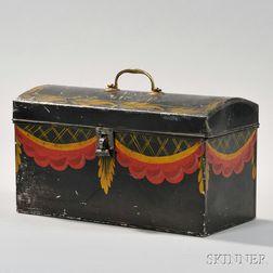 Paint-decorated Tin Document Box
