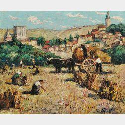 Ernest Lawson (American, 1873-1939)      Harvest, Segovia, Spain
