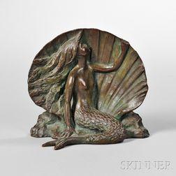 Gorham Company Bronze Figure of a Mermaid