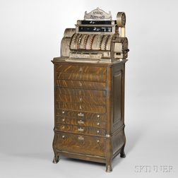Nickel-plated National Cash Register Class 500