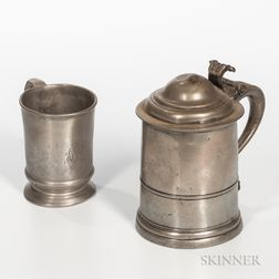 English Pewter Tankard and a Mug