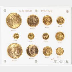 Twelve-coin U.S. Gold Type Set