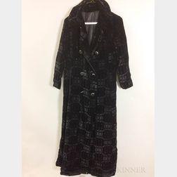 Velvet Woman's Coat
