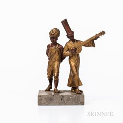 Bronze Sculpture of Two Minstrels