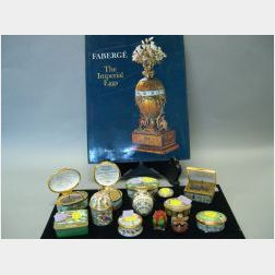 Thirteen Small Contemporary English Enamel Decorated Boxes