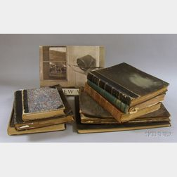 Seven 19th Century Bound Periodicals, a Ledger,  and a Modern Art Book