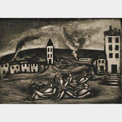 Georges Rouault (French, 1871-1958)      Mon doux pays, où êtes-vous?