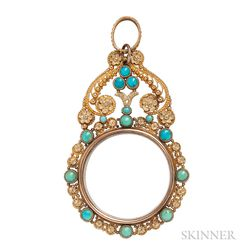 Antique Gold Double-sided Pendant