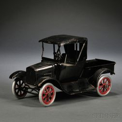 "Buddy ""L"" Black-painted Pressed Steel Ford Model T Pickup Truck.     Estimate $300-500"