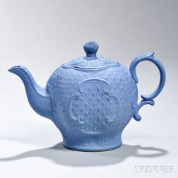 Staffordshire Solid Blue Jasper Teapot and Cover