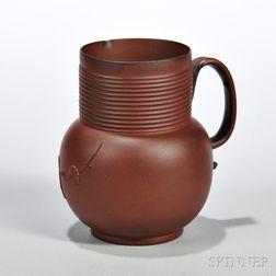 Red Stoneware Cider Jug