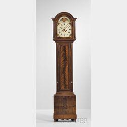 Aaron Willard Mahogany Tall Clock, with Case Attributed to Henry Willard