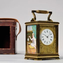 Porcelain Panel Repeating Carriage Clock