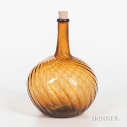 Amber Zanesville Flask