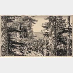 Stow Wengenroth (American, 1906-1978)      Lumber Schooner