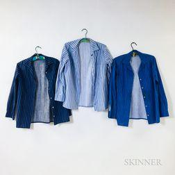 Three Marimekko Striped Button Down Shirts