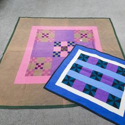 Amish Pinwheel Crib Quilt and Double Nine-patch Cotton Quilt