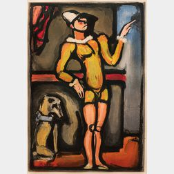 Georges Rouault (French, 1871-1958)      Auguste (Clown au chien)