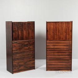 Pair of Scandiline Danish Modern Filing Cabinets