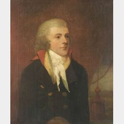 Attributed to Lemuel Francis Abbott (British, 1760-1803)  Portrait of a Naval Officer