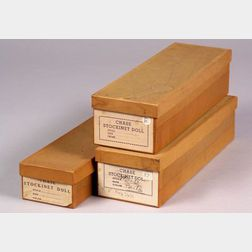 Three Original Martha Chase Co. Doll Boxes