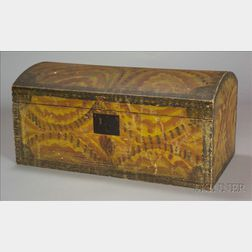 Fancy Paint Decorated Dome-top Trunk