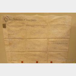 Framed 18th Century British Indenture Document under King George III