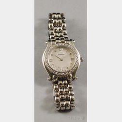 Lady's Movado 14kt White Gold and Diamond Bracelet Wristwatch