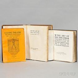 Craig, Edward Gordon (1872-1966)  On the Art of the Theatre  , Signed First Edition.