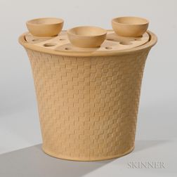 Caneware Bough Pot and Cover