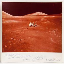 Apollo 17, Oversized Photograph Signed by Harrison Schmitt.