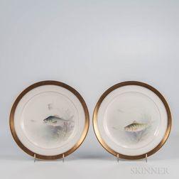 Set of Twelve Lenox China Fish Plates