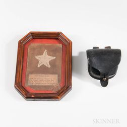 Cap Box and Corps Badge Worn by William Hasbrook, Company A, 111th Pennsylvania Volunteer Infantry on Sherman's March to the Sea